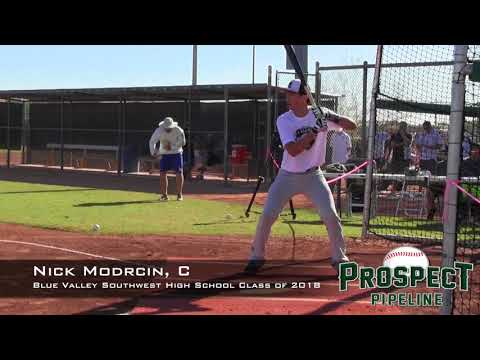 Nick Modrcin Prospect Video, C, Blue Valley Southwest High School Class of 2018