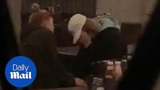 Justin Bieber comforted by Hailey Baldwin as he CRIES