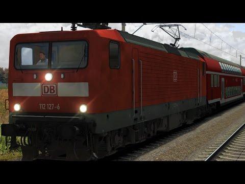 BR112 RE17688 Leipzig - Bitterfeld Regionalexpress Führerstandsmitfahrt Train Simulator 2017