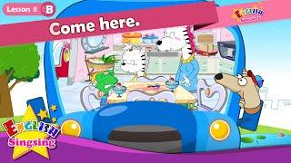 Lektion 8_(B)Kommen Sie hier. - Comic-Story - englische Erziehung - Leichte Konversation für Kinder