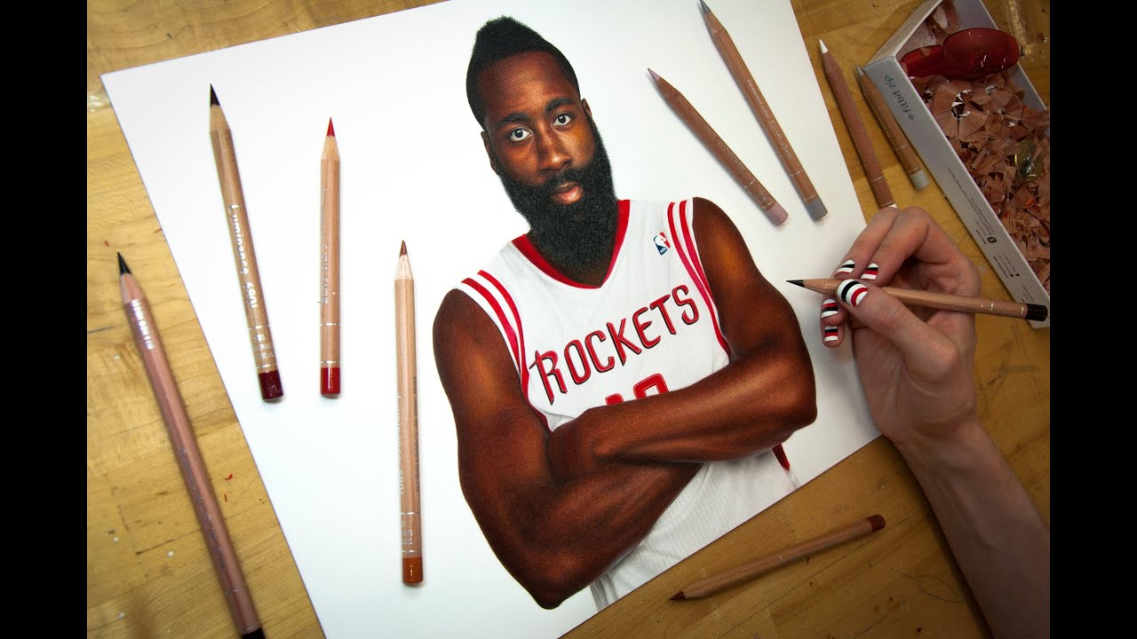 Drawing James Harden YouTube