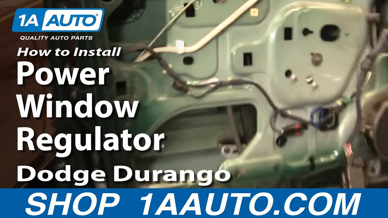 How To Replace Window Regulator 98 03 Dodge Durango Youtube