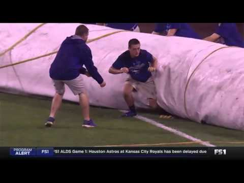 Kid gets trapped under tarp