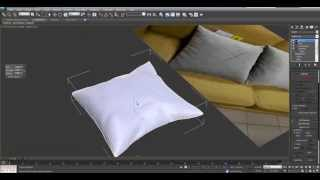 3d max. Уроки 3d max. Создание подушки в 3Ds Max Edit poly. Проект Ивана Никитина(Научитесь бесплатно 3D визуализации в 3DsMax ..., 2013-07-15T17:59:27.000Z)