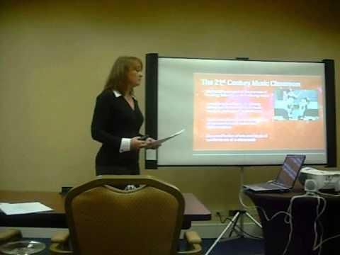 Tess Nielsen at Boston University Music Education Regional Presentation