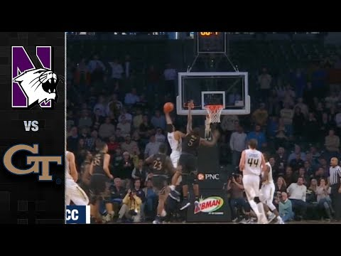 Northwestern vs. Georgia Tech Basketball Highlights (2017)