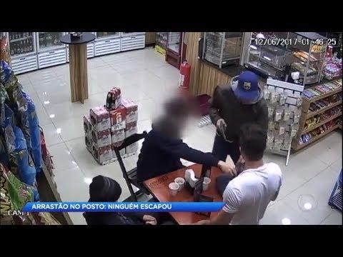 Ladrão faz arrastão em posto de gasolina e rouba 9 vítimas