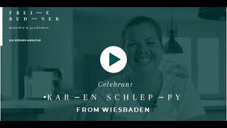 Celebrant Karen Schleppy from Wiesbaden for your free wedding *English interview*