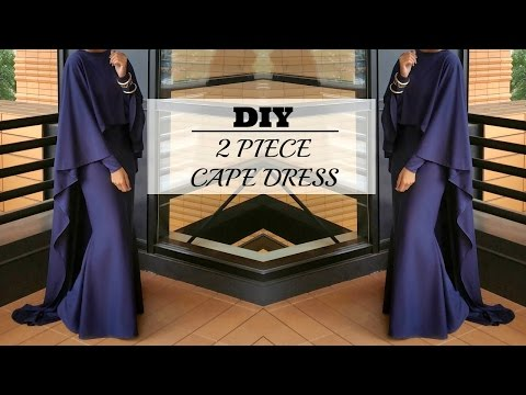 Nadira037 | DIY | How To Make A Cape Maxi Dress