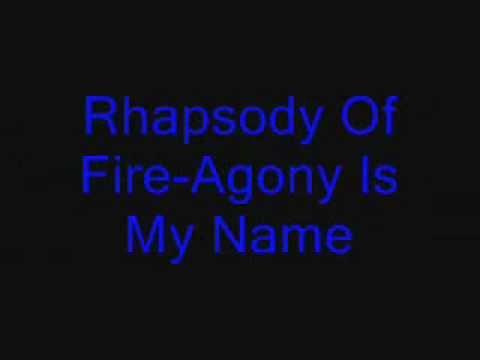 Rhapsody Of Fire-Agony Is My Name Lyric