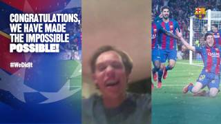 FC Barcelona – PSG: Crazy celebrations (v2) – #Wedidit Let's see how you did it!