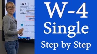 How to fill out W4 Withholding Single w4 2020. Step by Step for W4 Employee's Withholding Single