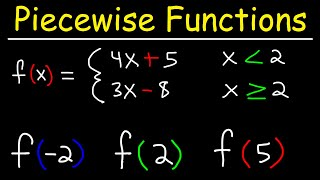 Evaluating Piecewise Functions