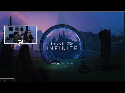 HALO INFINITE CAMPAIGN DEMO LIVE REACTION thumbnail