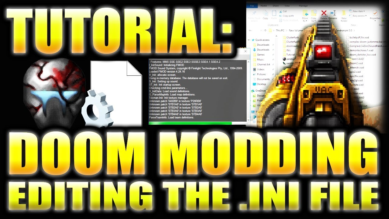 DOOM: HOW TO USE MODS WITHOUT ZDL | Tutorial for Zandronum 3 0 -  Complex/LCA/DJB/RandomMons