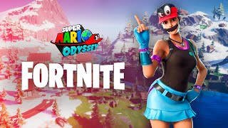 Fortnite but with Super Mario Odyssey Music