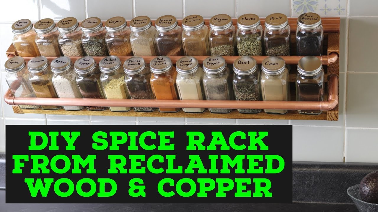 Diy Spice Rack From Reclaimed Wood Copper
