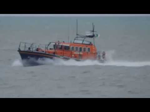 "RNLB ""PRIDE & SPIRIT"" on approach to  Avoca River Arklow Harbour,Co.Wicklow"