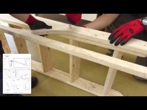 Scaletta In Legno Pieghevole : Scala in legno s ° per soppalchi youtube