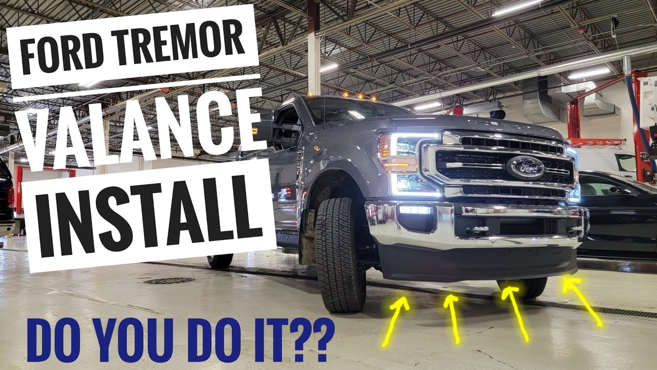 How To Install The Ford Tremor Front Valance 2020 2022 Ford F250 F350 F450 Should I Get One Youtube