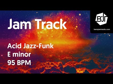 Acid Jazz-Funk Jam Track in E minor 95 BPM