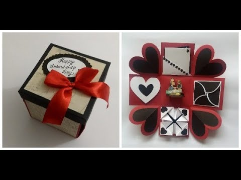 handmade card idea for FRIENDSHIP DAY/ scrapbook  | complete tutorial