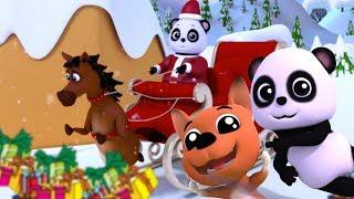 Tinir sinos | Canção de Natal | 3D Rimas de crianças | Chirtmas with Baby Bao Panda | Jingle Bells