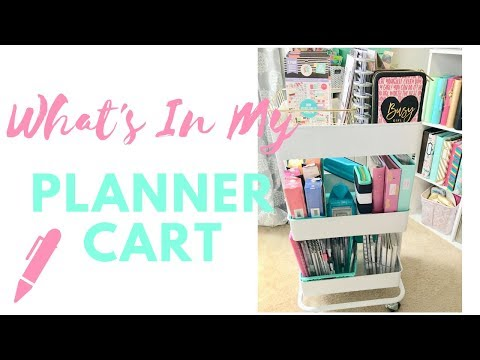 My Planner Cart ~ Organization And What's In It?
