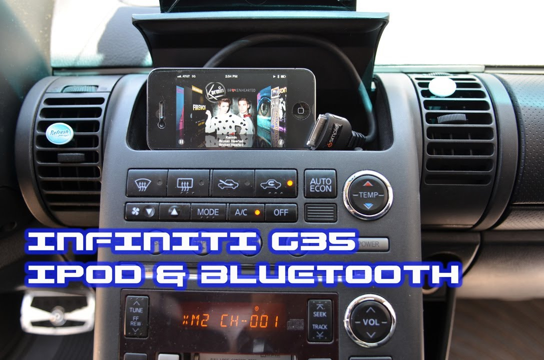Infiniti G35 Ipod Bluetooth Isimple Pac Pxamg A2dp Avrcp Streaming By Autotoys Com You