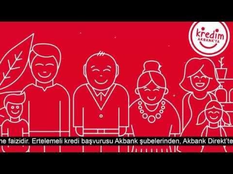 Ertelemeli Bayram Kredisi Akbank'ta