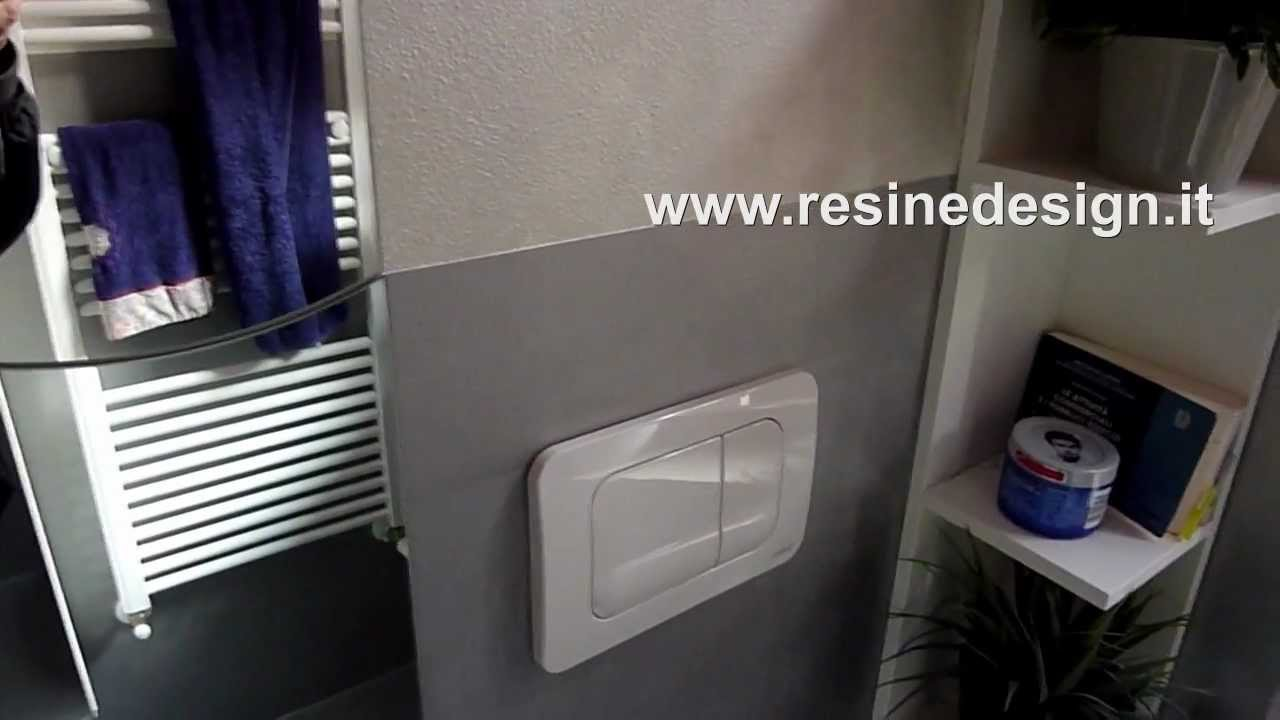 Bagno resina argento - pavimento e rivestimento - YouTube