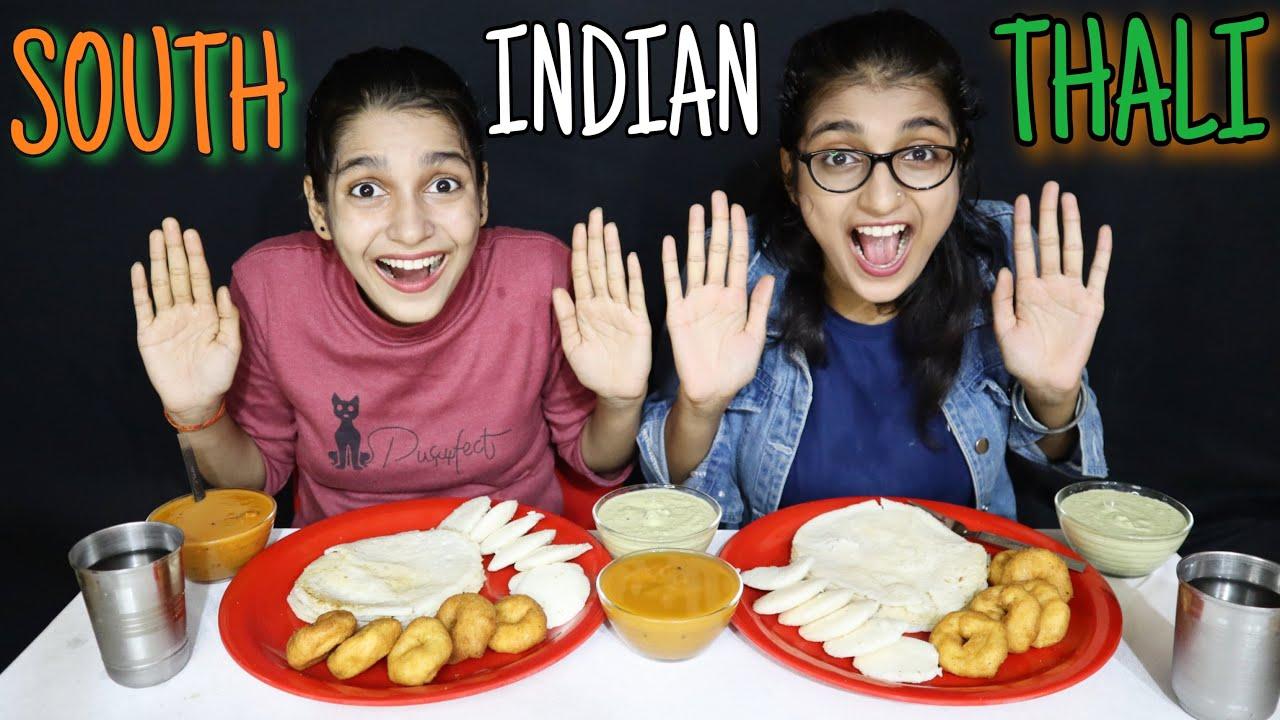 SOUTH INDIAN THALI CHALLENGE | DOSA, IDLI, MENDU WADA EATING CHALLENGE | SOUTH INDIAN FOOD