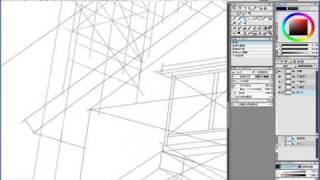 Step 01-03 線画を描く 1―IllustStudio 風景 テクニック