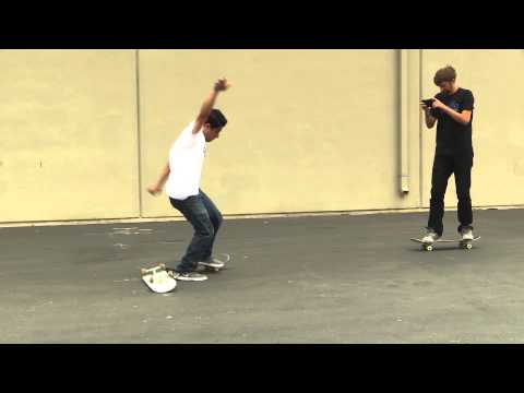 SKATEBOARD LESSONS | KICKFLIP OVER A BOARD