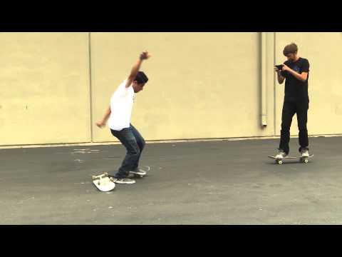 SKATEBOARD LESSONS | KICKFLIP OVER A BOARD