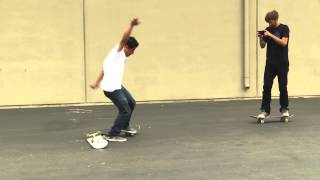 SKATEBOARD LESSONS | KICKFLIP OVER A BOARD(http://www.brailleskateboarding.com/shop CLICK ABOVE TO GET THE MOST DETAILED HOW TO VIDEOS EVER MADE! SKATEBOARDING MADE SIMPLE!, 2015-06-17T17:00:00.000Z)