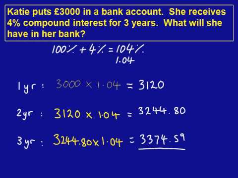 Compound Interest mathscasts - YouTube