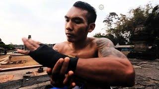 Lawan Mas Roni Enting Sampai Lempar Handuk (Hasil TKO)