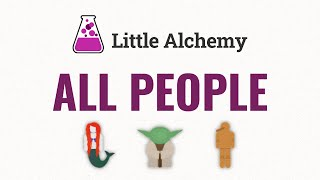 How to make AĻL PEOPLE in Little Alchemy