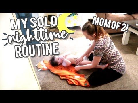 new!-🌜⭐-solo-night-time-routine-|-bedtime-routine-with-2-kids