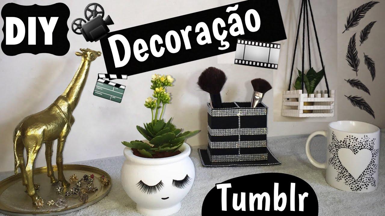 DIY  Decoração Tumblr Para Meninas  Eduardo Wizard  YouTube