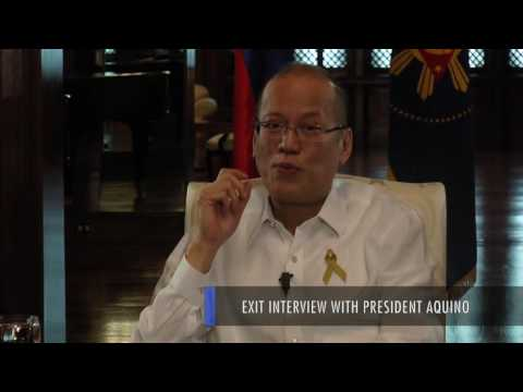 Exit interview with President Aquino