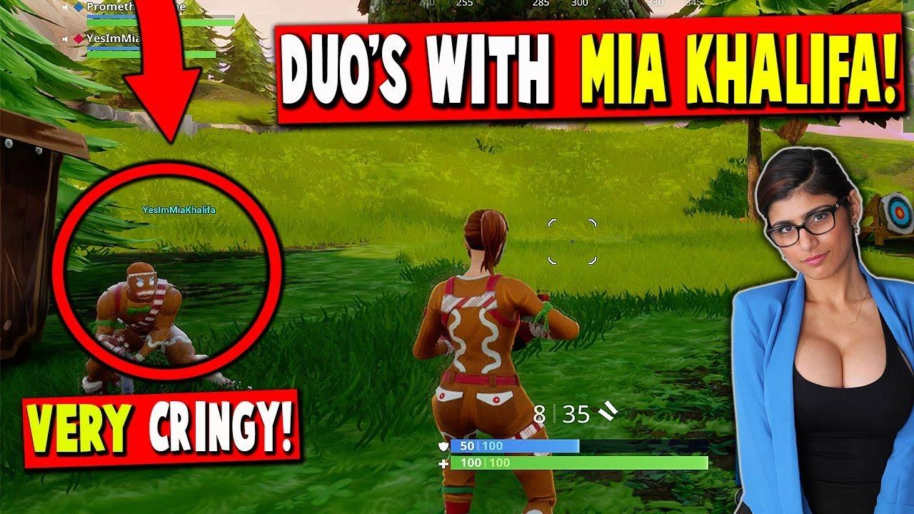 Duos With MIA KHALIFA Fortnite Battle Royale Xbox One