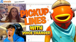 PICKUP LINES With a VOICE CHANGER! (Omegle)