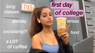 first day of college vlog (my caffeine addiction & stress are back)