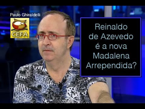 Reinaldo Azevedo é A Nova Madalena Arrependida Youtube
