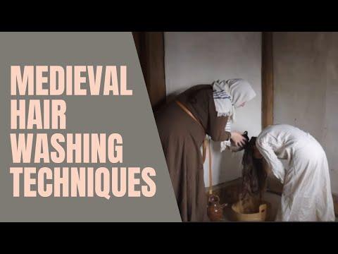 Medieval hair washing
