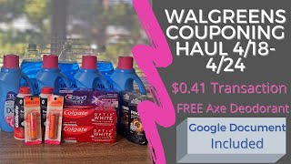 Walgreens Couponing Haul | Deals 4/18-4/24 | $0.41 For $30 Worth of Product | Saving with Shaniqua