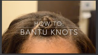 HOW TO: Bantu Knots for Beginners (on Dry Relaxed Hair)