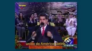 Discurso de Nicolás Maduro sobre a vitória de Dilma [Legendado]